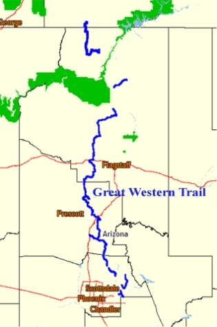 Map Of Arizona Utah Border.Great Western Trail In Arizona Expedition Utah